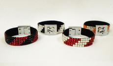 Rhinestone Striped Bracelet
