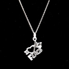 I Love Flags Sterling Silver Charm