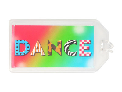 Dance Pattern Plastic Luggage Tag