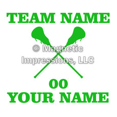 Lacrosse Men's Sticks Window Decal