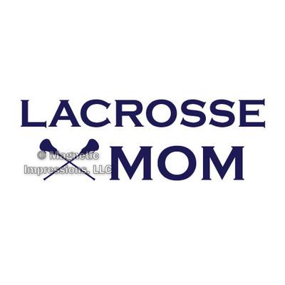 Lacrosse Mom Window Decal in Blue