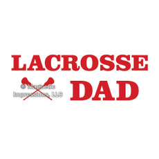 Lacrosse Dad Window Decal
