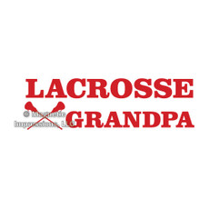 Lacrosse Grandpa Window Decal