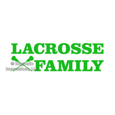 Lacrosse Family Window Decal