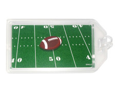 Football Plastic Luggage Tag Front