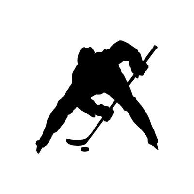 Ice Hockey Faceoff Window Decal