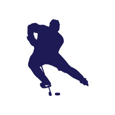 Ice Hockey Backhand Window Decal