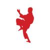 Martial Arts Crane Window Decal