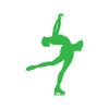 Figure Skater Layback Car Window Decal in Lime