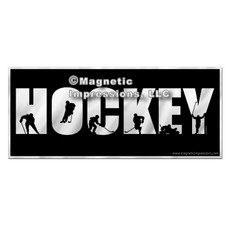 Ice Hockey Word Car Magnet Women's Chrome