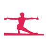 Gymnast Beam Window Decal