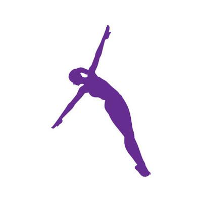 Diver Female Car Window Decal in Lavender