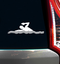 Swimmer Freestyle Window Decal