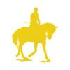 Equestrian Rider Car Window Decal in Yellow