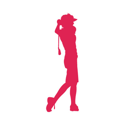 Golfer Female Window Decal