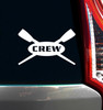 Crew Rowing Car Window Decal in White