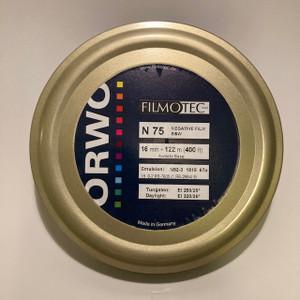 ORWO N75 (400 ASA) 16mm, Negative B&W Film, 400ft, on a core