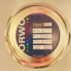 ORWO N75 (400 ASA), 35mm, Negative B&W Film, 400 ft, on Core