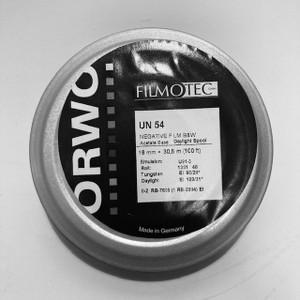 ORWO UN54 (100 ASA), 16mm, Reversal or Negative B&W Film, Single Perf, 100ft on Daylight Spool
