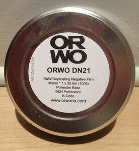 ORWO DN21, 35mm, 100ft, B&W Duplicating Negative Film