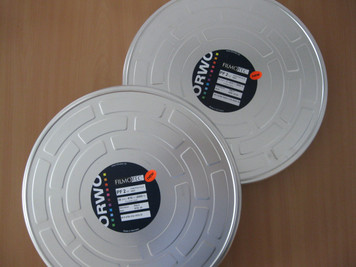 ORWO PF2 (Positive Film), DOUBLE PERF, 16mm, 2x 2000ft,