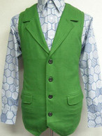 Crown Prince of Crime Green wool VEST