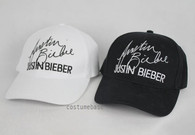 BIEBER Baseball Cap Embroidered Autograph