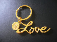 LOVE Keychain Gold Tone
