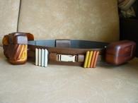 ANAKIN Deluxe Dark Brown/ Black Full Belt Set Pouches Capsules