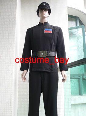 Ranks costume Set Star Wars Belt Imperial Officer Black Uniform Cap