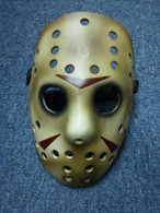 Jason Hockey Fibergalss Mask Dark