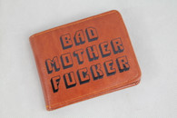 BMF Bad Mother Fucker Brown LEATHER Wallet