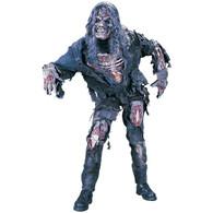 Complete Zombie Scary Skeleton Monster Costume Halloween Fancy Dress