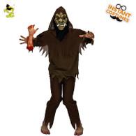 Adult Men Zombie Costume Scary Halloween Fancy Dress