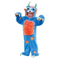 Kids Toddlers Boys Girls Deluxe Plush Blue Monster Fancy Dress Costume