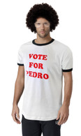 Napoleon Dynamite VOTE For PEDRO T-Shirt Costume Set of 3 Set Wig Glasses Shirt