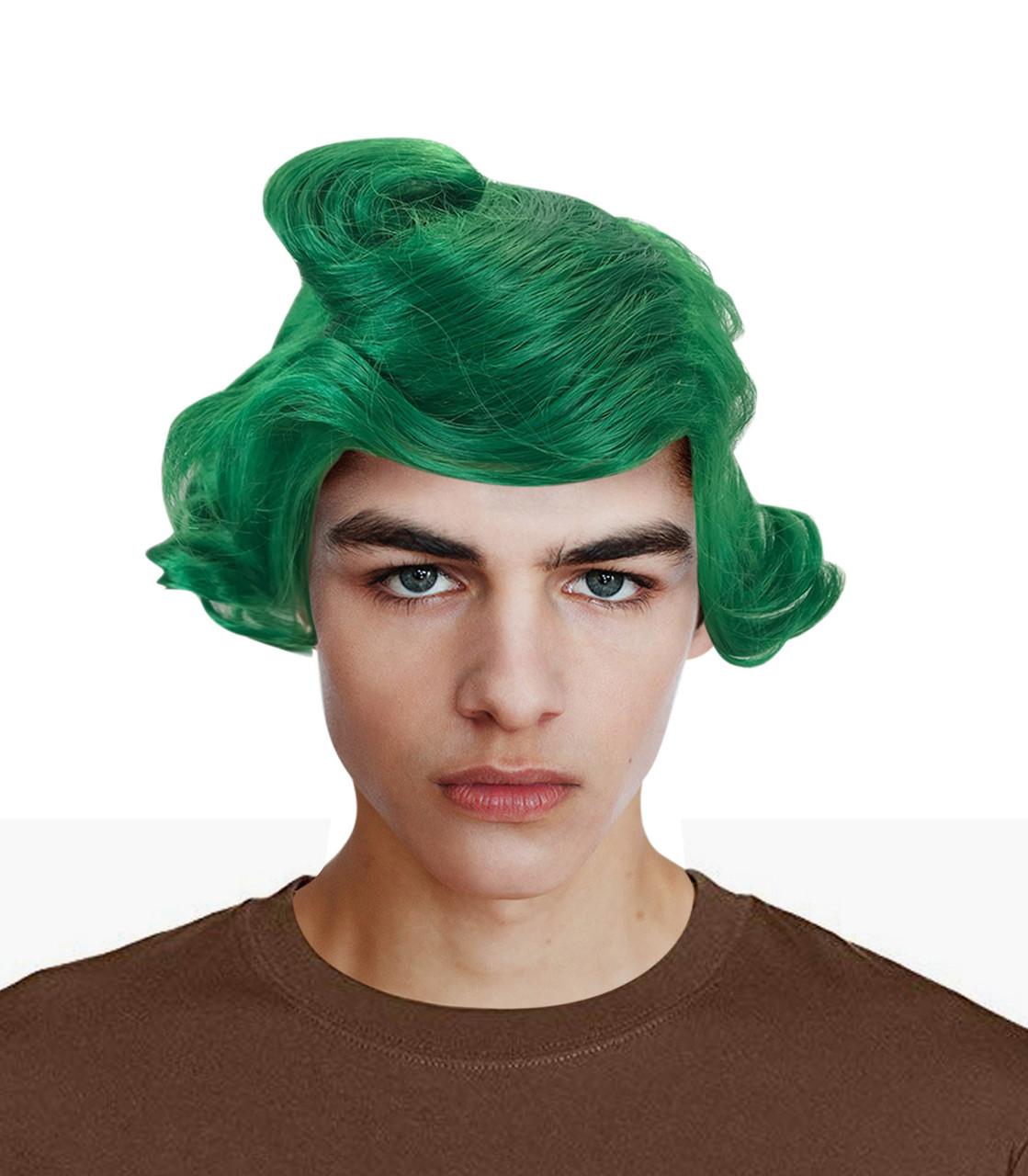 Oompa Loompa Green Wig Willy Wonka Chocolate Costume
