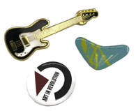 BTTF Jacket PIN Set of 3 Guitar Boomerang Art Revolution Replica McFly