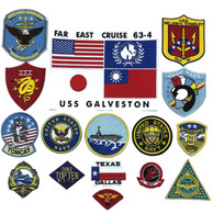 Top Gun Fighter Flight Jacket Iron-On PATCH SET OF 16 maverick USS GALVESTON