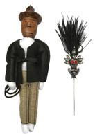 Indiana Jones Voodoo Doll + Pin Set