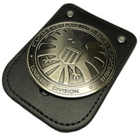 Avengers Agents Of Shield S.H.I.E.L.D. BADGE w/ LEATHER BADGE HOLDER Props