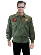 Pete Mitchell Air Force Jacket + Sunglasses Party Men Flight costume top gun