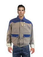 MARTY MCFLY Denim JACKET Back To The Future 1985 with 3 pins Halloween Costume
