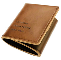 WALTER MITTY WALLET secret life of Genuine Leather Handmade Brown