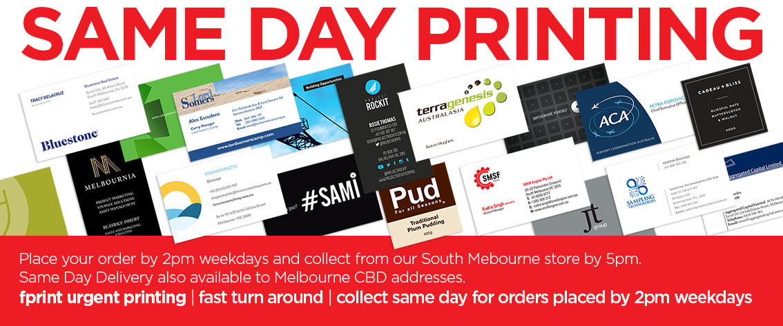 Same Day Business Cards Urgent Business Card Printing Melbourne