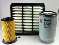 HYUNDAI i30 TURBO DIESEL 1.6L 2007-02/08 AIR OIL FUEL FILTER KIT