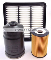 HYUNDAI i30 TURBO DIESEL 1.6L 03/08-04/12 FILTER KIT