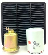 MITSUBISHI MIRAGE/LANCER AIR OIL FUEL FILTER KIT