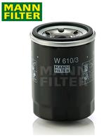 GENUINE MANN OIL FILTER - W610/3 - MITSUBISHI TRITON MQ & PAJERO QE 2.4L