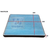 LDV V80 CABIN FILTER [WACF0238, interchangeable with RCA337P]